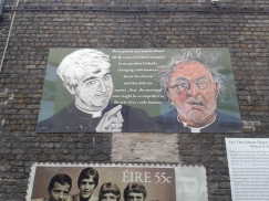 Father Ted street art Temple Bar Dublin