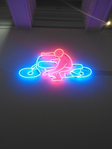 Neon art Hugh Lane Gallery Dublin