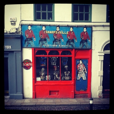Retro shop front Temple Bar Dublin