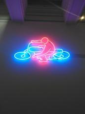 Neon art at Hugh Lane Gallery