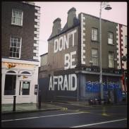 Seamus Heaney quote street art Dublin