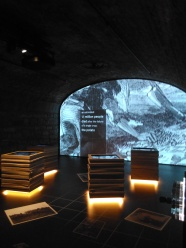 Irish Famine explained in one of the interactive galleries at EPIC the Irish Emigration Museum Dublin