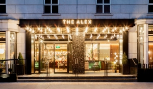 Exterior of The Alex Hotel