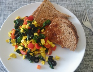 mediterranean tofu scramble recipe lisa hughes blog 1
