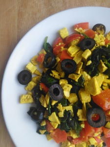 vegan dinner mediterranean tofu scramble recipe